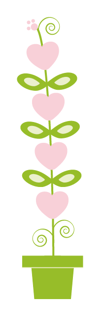 Schermafbeelding hartjes bloem