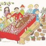 Uitnodiging voor een italiaansjubileumfeest