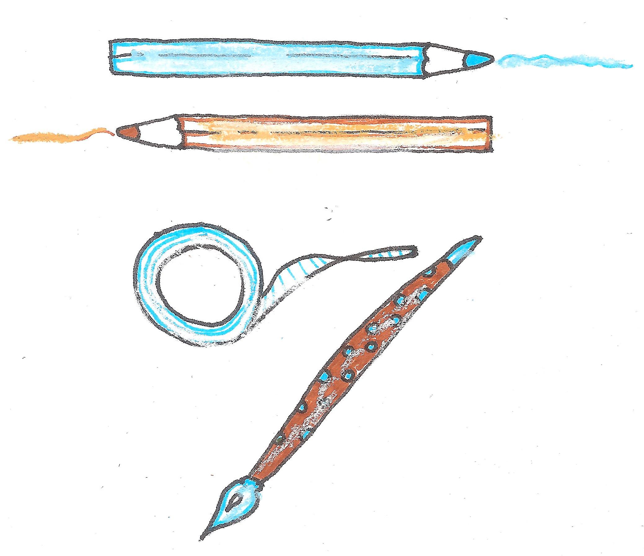 potloden en plakband