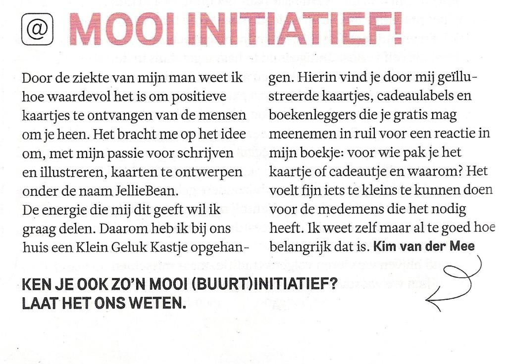 't Klein Geluk Kastje staat in tijdschrift Margriet, nr 52.