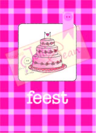 feest taart JB